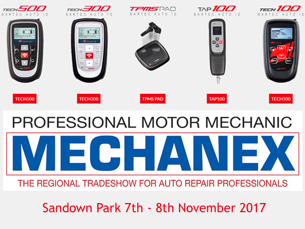 Bartec Auto ID allo Stand 22 del Mechanex Sandown Park