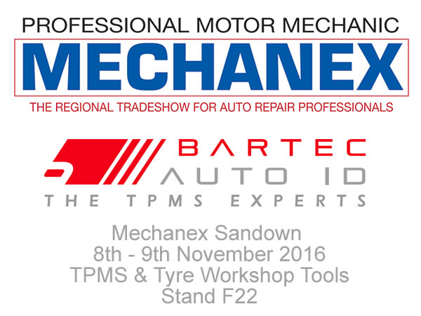 Bartec Auto ID Ltd si esibisce al Mechanex Sandown 8 - 9 Novembre 2016